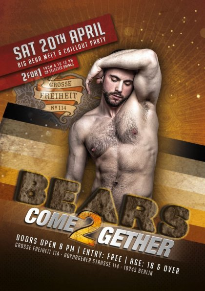 BEARS come2gether - Big Bear Meet and Chillout Party