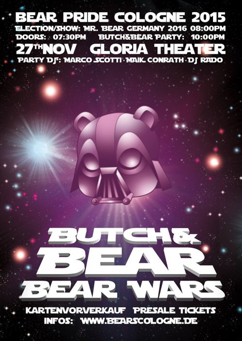 BUTCH&BEAR Party - Election Mr. Bear Germany 2016