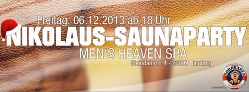 NIKOLAUS-SAUNAPARTY im Men's Heaven Spa